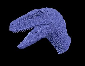 3D printable model Jurassic Park Velociraptor Head