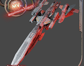 PBR Realtime Spaceship 3D model