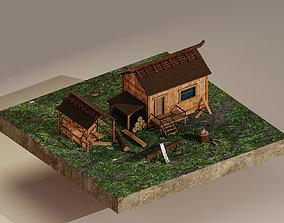 3D asset Sawmill Level 5