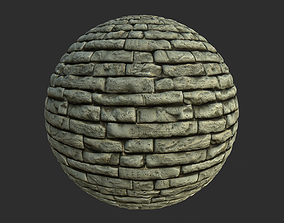 Stone Wall 003 Material 3D model
