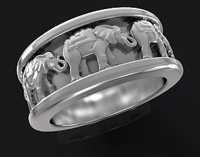 3D print model elephant ring gem