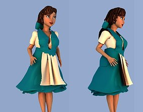 Belle from Beauty and the Beast 3D model