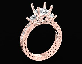 3D printable model 1697 Diamond ring