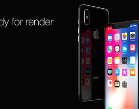 Apple Iphone X 2017 3D model