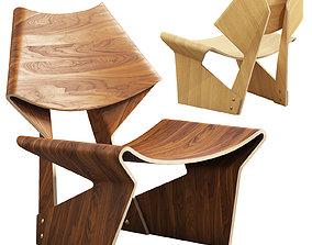 Grete Jalk chair 3D