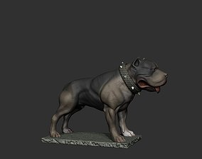 american 3D printable model staffordshire terrier