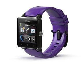 Sony Smart Watch 2 Purple 3D asset