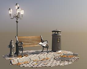 3D model London Vintage Street Set