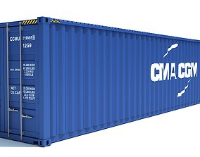 Shipping Container CMA CGM 3D