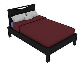 Modern Bed 3D asset VR / AR ready
