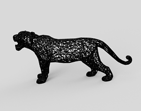 3D printable model Tiger art