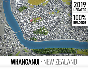 3D asset Whanganui - city and surroundings