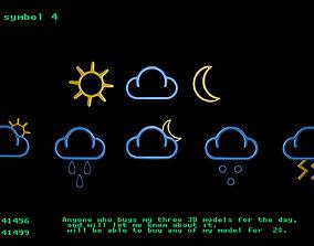 3D model Weather symbol 4