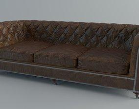 Sofa Chesterfield 3D asset