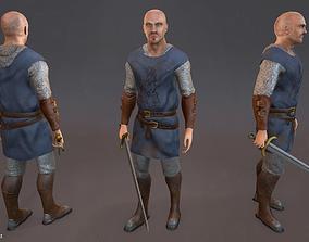 The Lonely Templar 3D asset