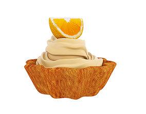 3D model Orange tart