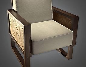 Designer Chair Art Deco - PBR Game 3D asset