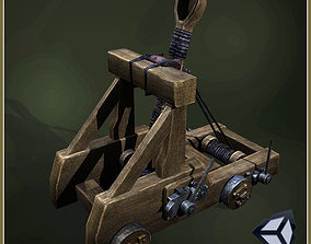 Animated Medieval Catapult 3D model