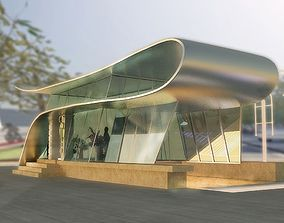 Bus station as 3D model