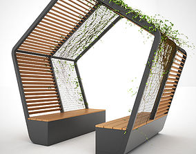 3D Bench or Table Set with Shelter - MODEL 4