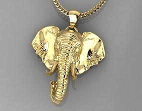 Pendant Elephant 3D print model jewellery