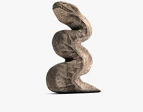3D Serpent Stone sculpture