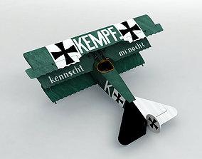 Fokker DR-1 Triplane 3D asset realtime