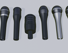 A Mic Set of 6 Microphones 3D