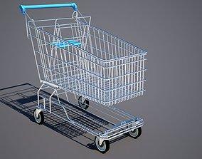 3D model Shopping cart supermarket
