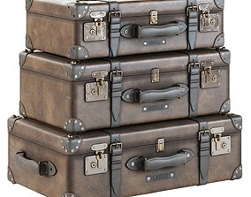 3D Leather Suitcases