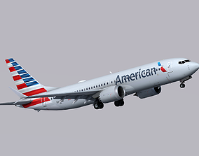 Boeing 737 MAX-8 American Airlines 3D model