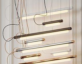 3D model Pipeline 125 LED Linear Suspension Light from