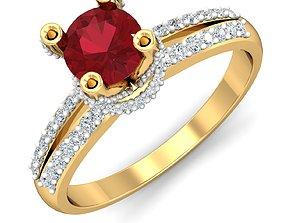 rings gem Women ring 3dm stl render detail