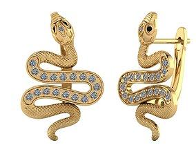 3D print model Snakes earrings