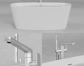 3D asset Ideal Standard Dea Duo Bathtub E3066 A6347