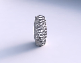 Vase hexagon with lattice tiles 3D print model