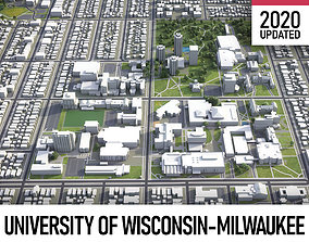 University of Wisconsin-Milwaukee 3D asset