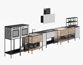 3D model BARAZZA kitchen