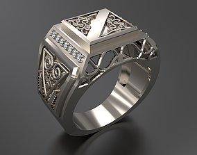 Men Ring with ornaments 3D print model