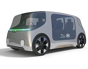3D model Jaguar Land Rover Vector Electric Shuttle with