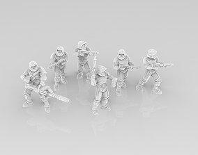 3D printable model Light Havok Troopers
