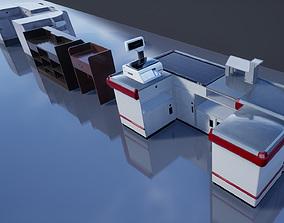 3D model Supermarket Store Shelves