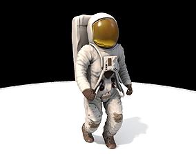 3D model animated Astronaut