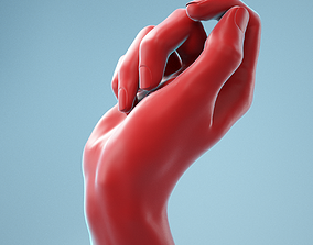 Relaxed Fist Realistic Hand Model 13 3D