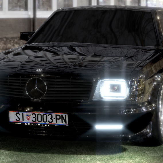Mercedes C126 Widebody