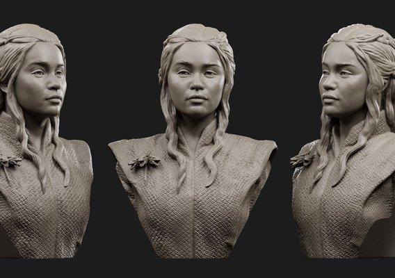 Deineris Targaryen 3D print model