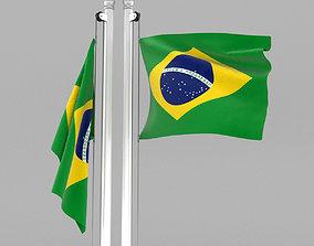 Flag of Brazil 3D model
