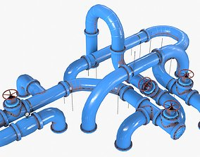 Painted Pipes 3D model