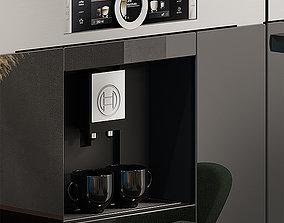bosch oven and coffee maker 3D asset