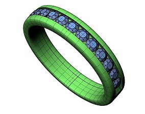 3D print model Wedding Band - 90
